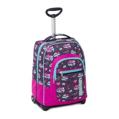 Trolley SEVEN Fit Girl LOVE LETTER 35 Lt 2in1 Zaino con spallacci a scomparsa...