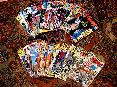 HUGE LOT VINTAGE G.I.JOE COMICS~61 ISSUES~60 CENTS TO $1.50~1980s to 1990