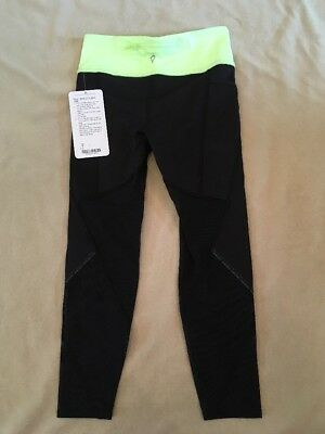 Ivivva Pants 8 Girls By Lululemon Mesh With The Best Yellow Black Nwt Flaw