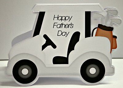 Handmade card Golf Buggy shaped  *FREE POST* Father's Day