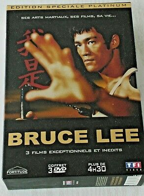 Coffret Bruce Lee 3 Dvd/la Destinée Du Dragonn/la Fureur Des Poings/jeet Kun Do