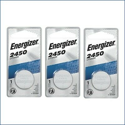 3 X Super Fresh Energizer CR2450 ECR 2450 3v LITHIUM Coin Cell Battery