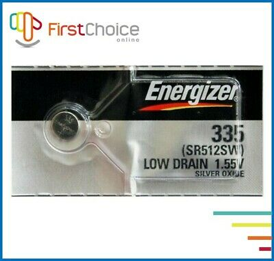 1 NEW Energizer 335 SR512SW Button Cell Silver Oxide Watch Battery Exp.2024