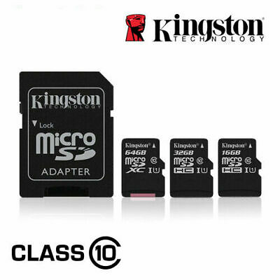 Kingston 16GB 32GB 64GB Micro SD SDHC SDXC Class10 Memory Card 80Mb/s