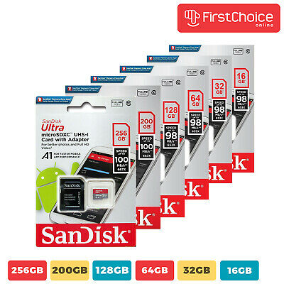 SanDisk Ultra 16GB 32GB 64GB Micro SD C10 SDHC SDXC Flash Memory TF card- USA