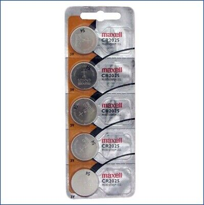 5 x Genuine Maxell CR2025 CR 2025 3V LITHIUM BATTERY Made in Japan Exp.2023