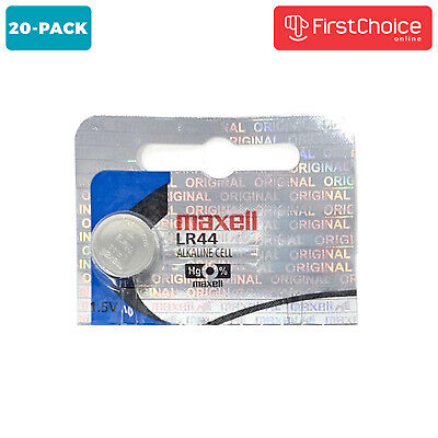 Maxell LR44 20 Pack Hologram Battery Ag13 357 Package Button Cell Alkaline USA