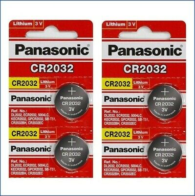 4 x SUPER FRESH Panasonic ECR2032 CR2032 Lithium Battery 3V Coin Cell Exp. 2024