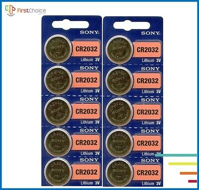 10 Pack SONY CR2032 3V Lithium Coin Battery New expire 2029