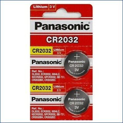2 x SUPER FRESH Panasonic ECR2032 CR2032 Lithium Battery 3V Coin Cell USA SELLER