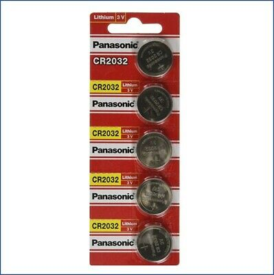 5 x SUPER FRESH Panasonic ECR2032 CR2032 Lithium Battery 3V Coin Cell