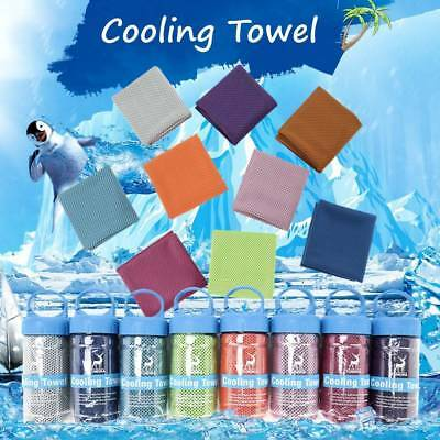 Ice Cold Instant Cooling Towel Running Jogging Gym Chilly Pilates Sports Yoga