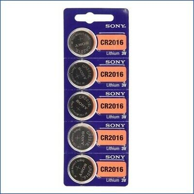 5 x SONY CR2016 Lithium Battery 3V Pack 5 pcs Coin Cell