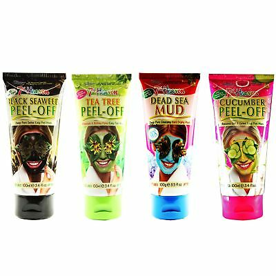 7th Heaven Face Mask Mud Peel Exfoliate Oily Combination Skin 100ml Travel Tube
