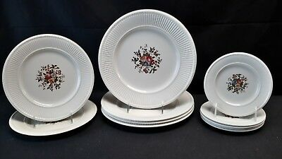 Wedgwood England EDME Dinner Luncheon Bread & Butter Conway - Set of 11 Plates