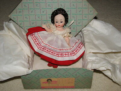 "*NO RESERVE* Vintage 1950s 8"" Madame Alexander ""Russian  Doll in Original Box"