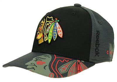 REEBOK NHL MEN S Chicago Blackhawks Playoff Structured No Patch Flex ... e4a10da0006f