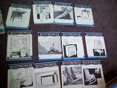 The Woodworker Magazine 12 Issues Jan 1951 Dec 1951 Vgc Vintage