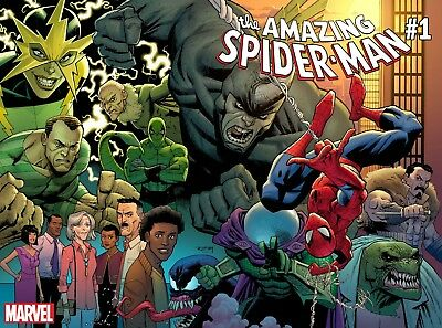 THE AMAZING SPIDER-MAN #1 First Print NM Sold Out Comic Book Marvel 2018 Ottley