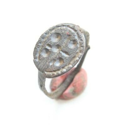 Ancient Post Medieval Ornament Bronze Ring (MAR02)