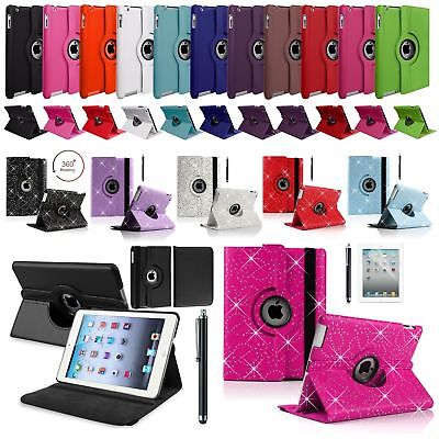 """Leather 360 Rotating Smart Stand Case Cover For APPLE iPad 9.7"""" (2017)(2018) New"""