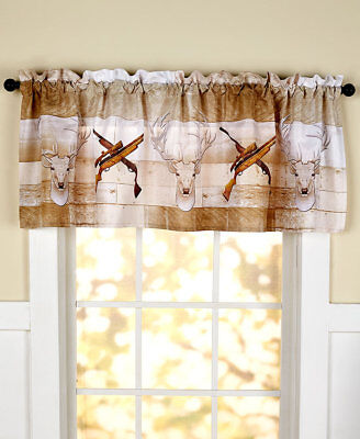 The Lakeside Collection Born to Hunt Window Valance