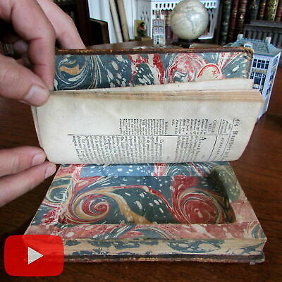 Book Box secret Compartment c.1752 Japan Travel 2 old leather French books