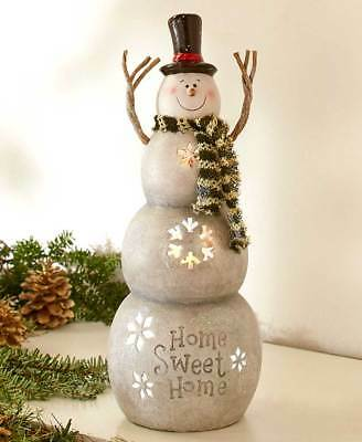 The Lakeside Collection Lighted Tabletop Snowman -