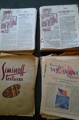 Vintage Practical Weaving Suggestions pamphlets & Shuttle Service Magazines