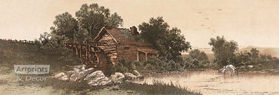 The Old Millhouse by Alfred Hopkins (: Art Print of Vintage Art :)