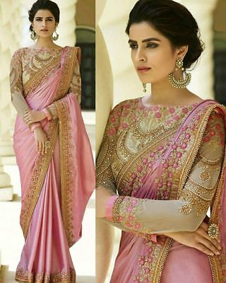 Bridal Embroidery India Bollywood Designer Sari Indian Traditional Wear Sari 015