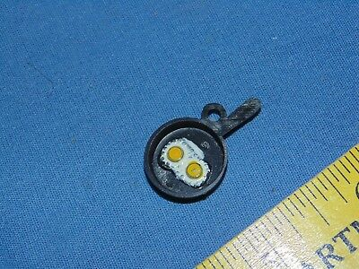 Frying Pan Vintage Charm HONG KONG - eggs gumball cracker jack prize
