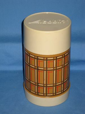 "Vintage/RETRO Aladdin ""BEST BUY"" Plaid Wide Mouth Lunch Thermos Bottle!"