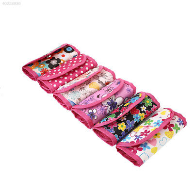 F8EC Pouch Knitting Crochet Case Needle Hook Holder Nylon Storage Print Bag