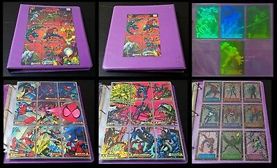 1994 Amazing Spider-Man Set! Complete Base Hologram Suspended Animation! Marvel