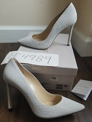 0847026b8916 NWT Jimmy Choo ROMY embossed Leather heels pumps size 38 US 7.5 8 receipt