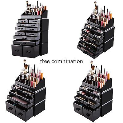 New Acrylic Makeup Organizer Drawers Cosmetic Case Holder Jewelry Storage Box