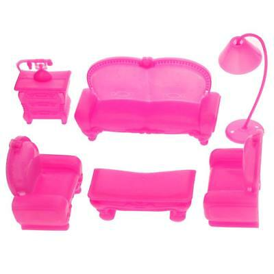 6PCS Home Sofa Barbie Dollhouse Furniture Doll Accessories Toy Gift SS US #316