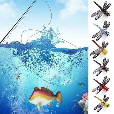 Popper Fishing Bait Lure Life-like Dragonfly Floating Fly Fishing Flies NEW