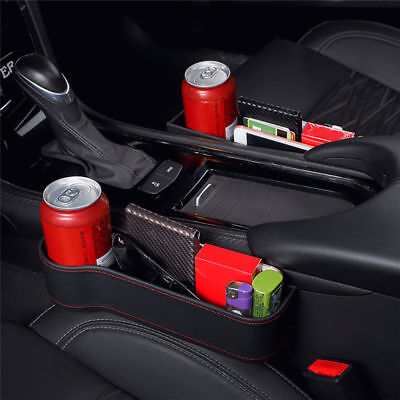 Car Seat Crevice Box Storage Drink Cup Holder Organizer Auto Gap Pocket Stowing