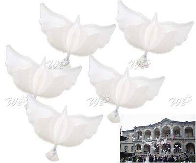 5X White Inflatable Dove Helium Foil Balloons Party Memorial Ceremony Decoration