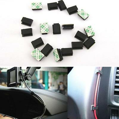 Unique 40Pcs Car Data Cord Tie Cable Mount Wires Fixed Clips Self-adhesive SS