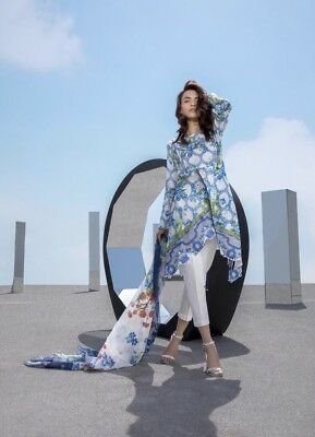 New Unstitched Sapphire Lawn 2018 Shirt And Dupatta 2 Piece