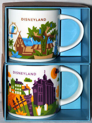 Disneyland Starbucks You Are Here 3rd & 4th Ed Mugs Adventurland/Haunted Mansion