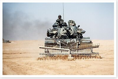 24th Infantry Division Mine Clearing Rake Operation Desert Storm 8 x 12 Photo