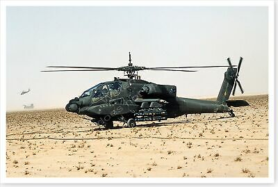 XVIII Airborne Corps AH-64A Apache Attack Helicopter Desert Storm 8 x 12 Photo