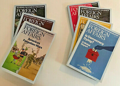 Set of 7 Foreign Affairs Magazines 2017/2018