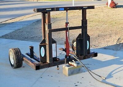 Hydraulic Forkster Pallet Fork Truck Carry All Sod Roller Attachment - Ship $299
