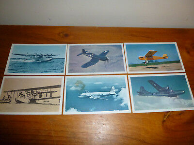1964 Sanitarium Picture And History Cards Of Aeroplanes 12 Cards