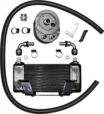 Jagg Lowmount 10-Row Oil Cooler System (Black) (750-2400)